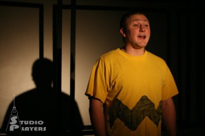 The cast of Studio Players' production of Dog Sees God: Confessions of a Teenage Blockhead during dress rehearsal, January 7, 2014